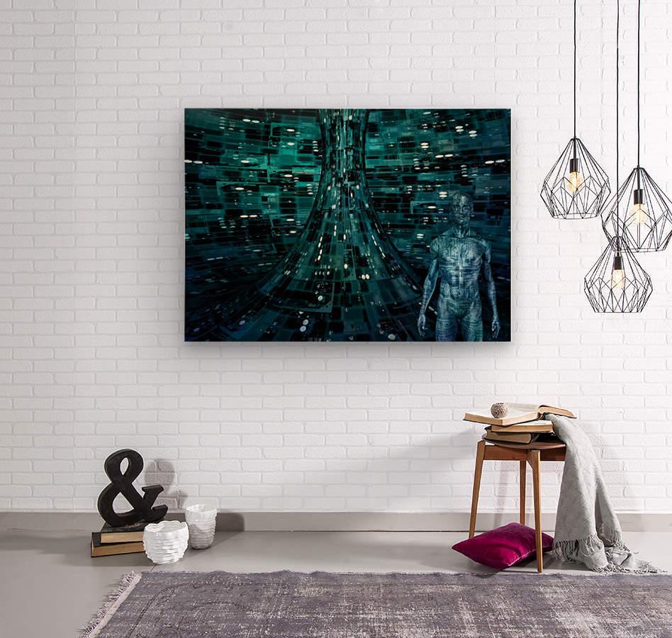 Cyborg Man  Wood print