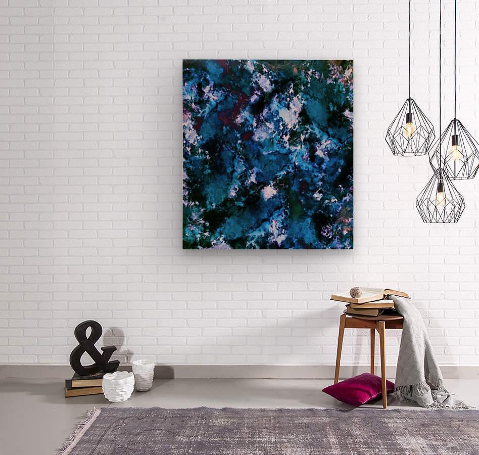Smouldering blue  Impression sur bois