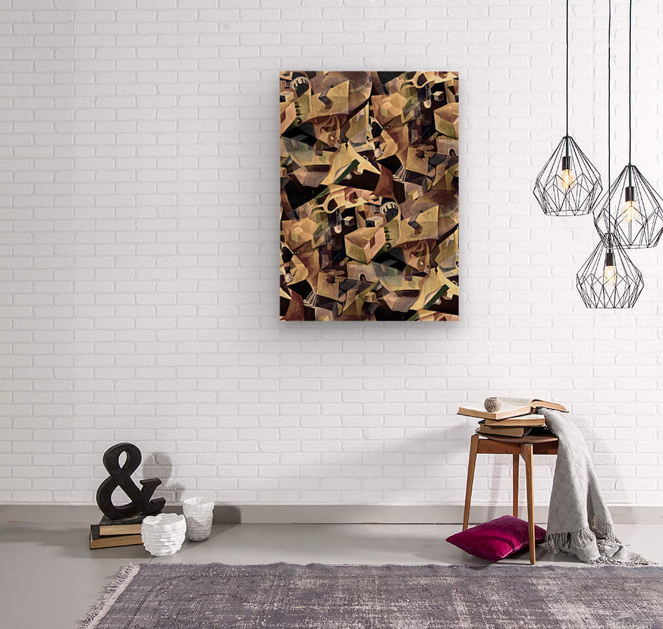 Oscillating  Magical Thoughts  Wood print
