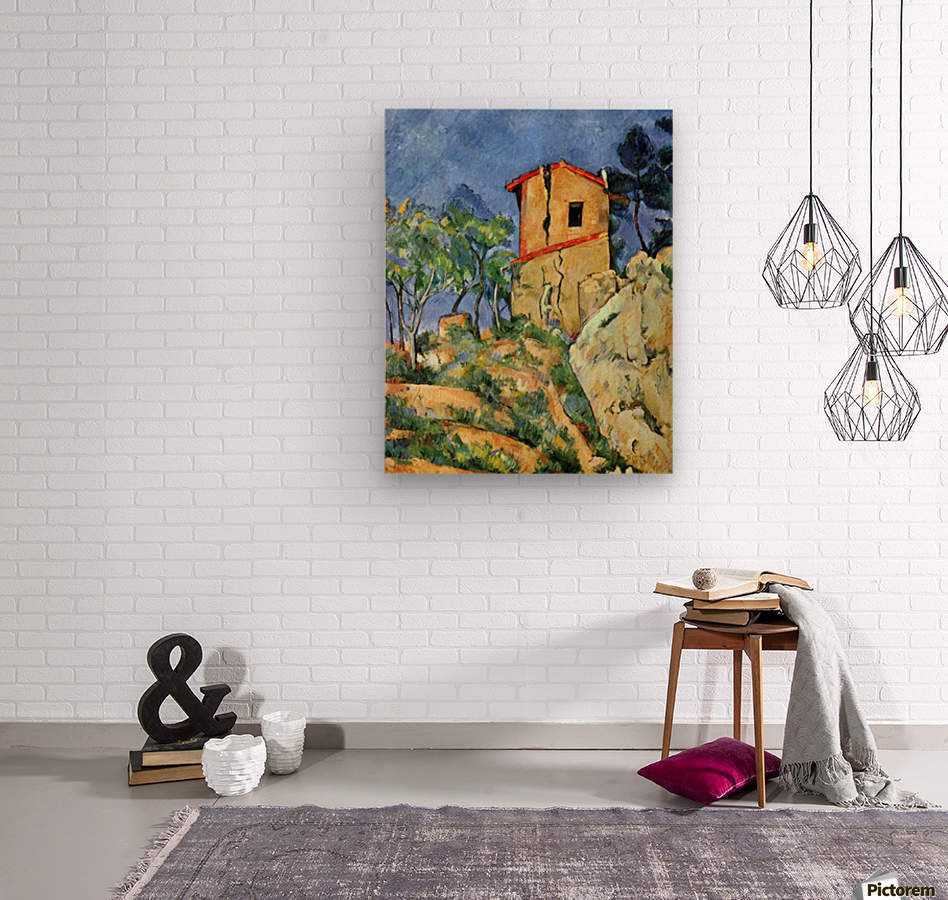 House with Walls by Cezanne  Wood print