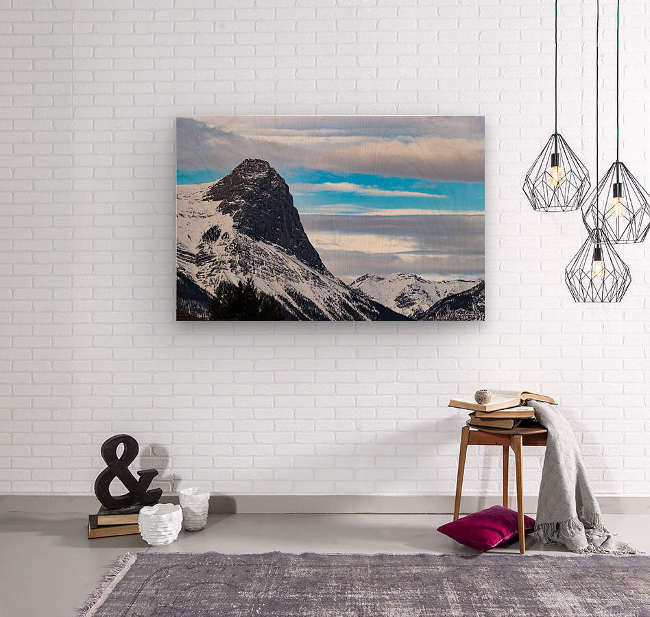 Ha Ling Mountain   Wood print