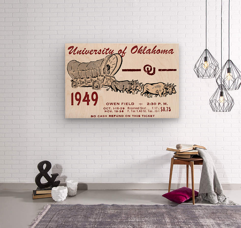 University of Oklahoma Gift Ideas for Sooner Fans  Wood print