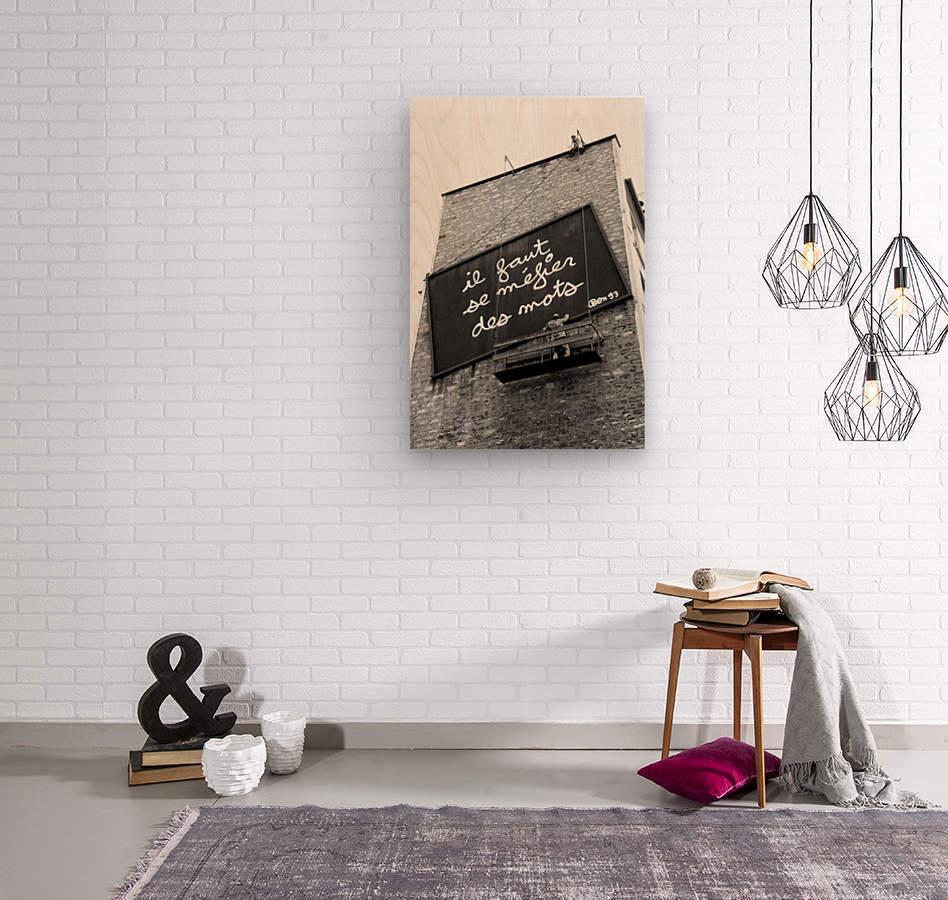 Beware of Words  Wood print
