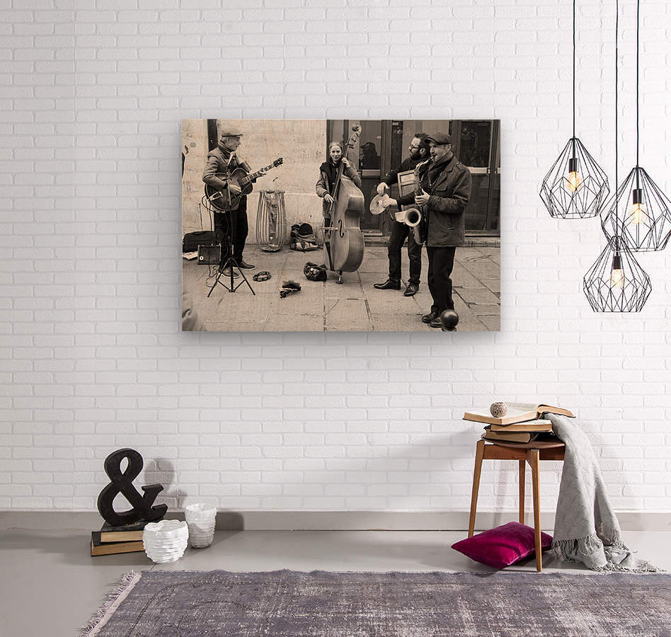 Musique le Dimanche  Wood print