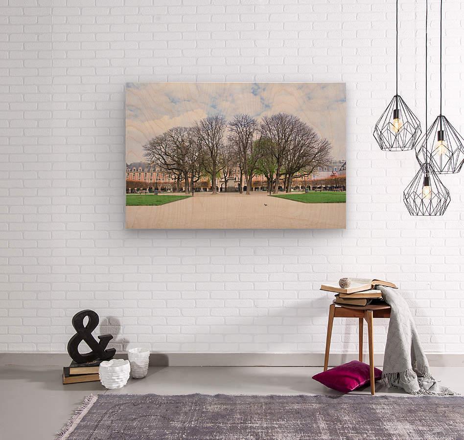 Place des Vosges  Wood print