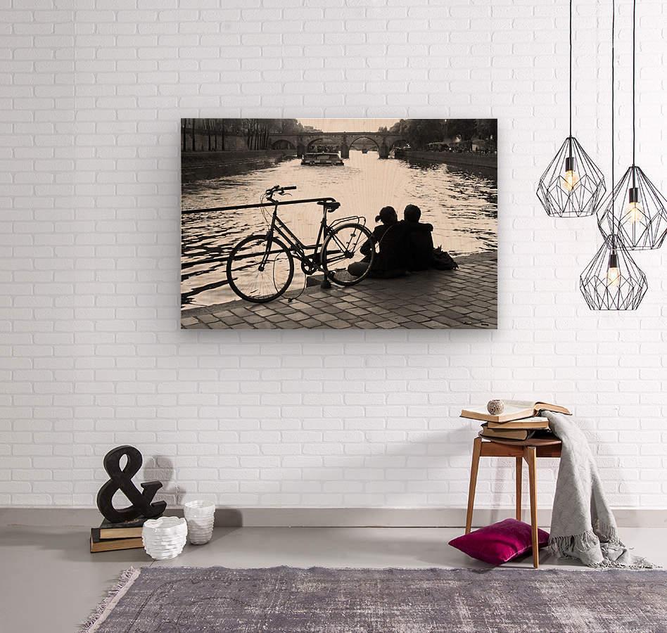 Couche du Soleil - La Seine  Wood print