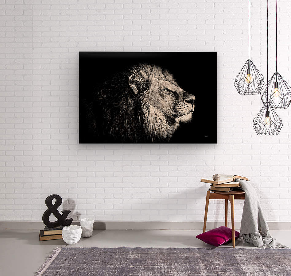 Lion with Attitude  Wood print