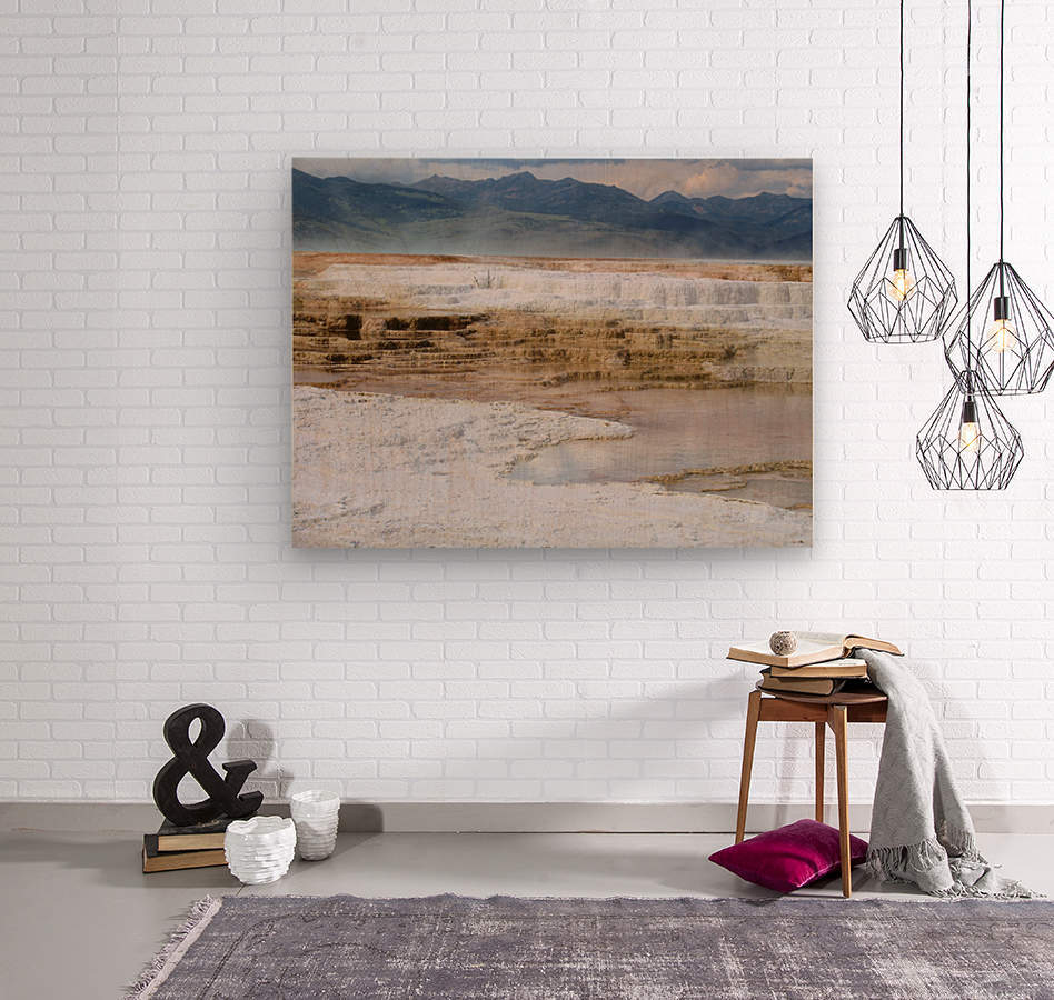Mammoth Hot Springs part 2 Yellowstone National Park  Wood print
