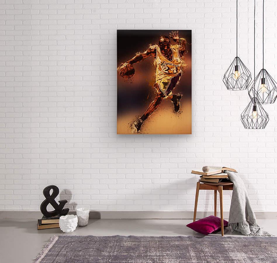 Kobe Bryant Best Moments 8  Wood print