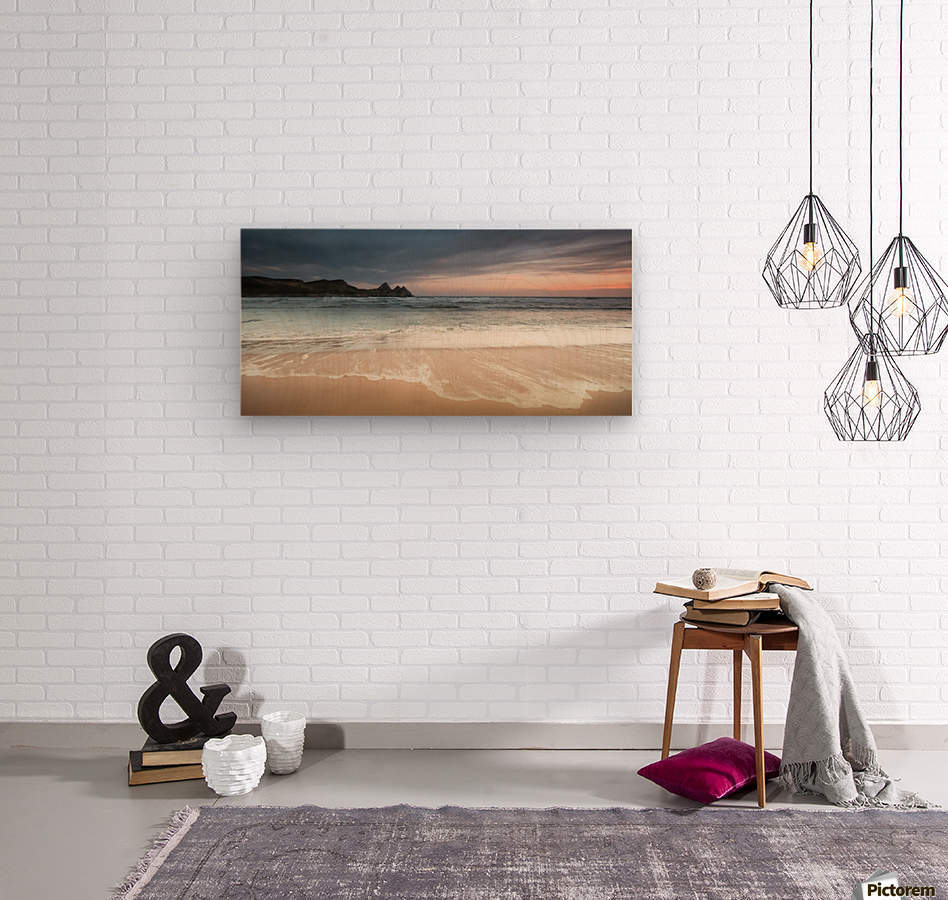 Three Cliffs Bay Swansea  Wood print