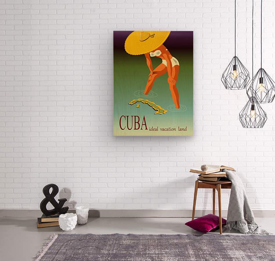 Big Girl over Cuba  Wood print