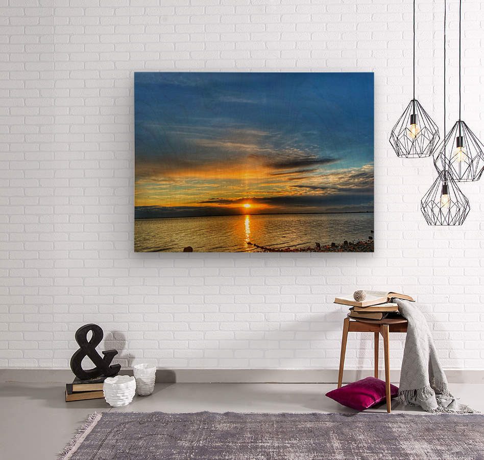 Ocean Sunsets  Wood print