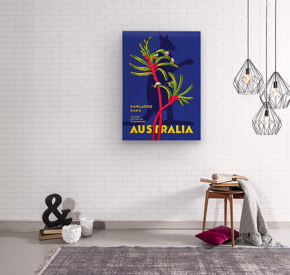 Kangaroo Paws Australia  Wood print