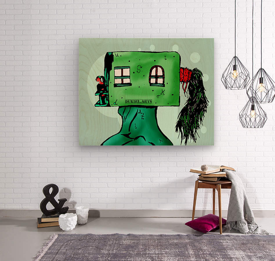 House Man   Wood print