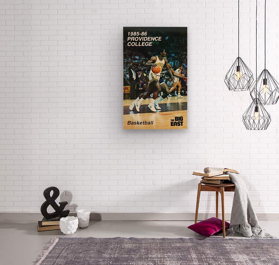 1986 providence basketball poster  Wood print