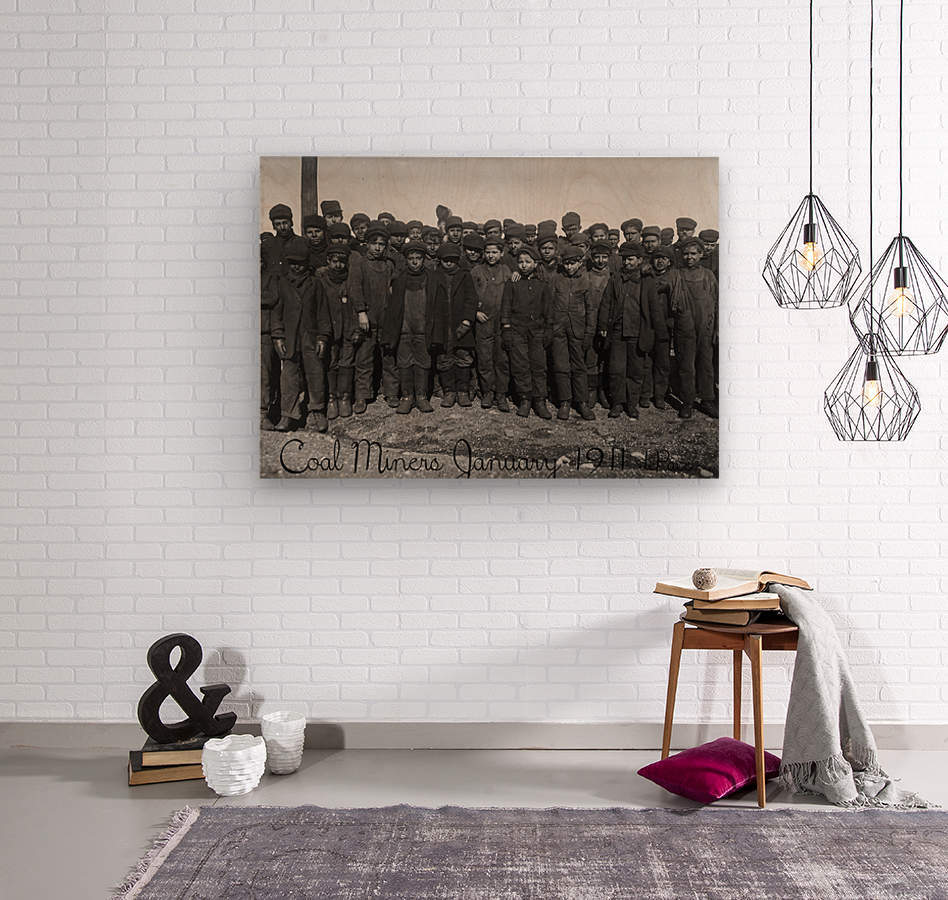 Coal Miners January 1911  Wood print