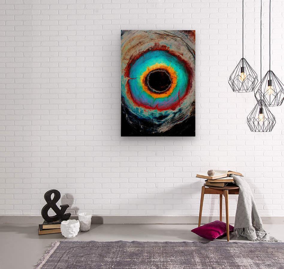 Glimpse of Black Hole No.1  Wood print