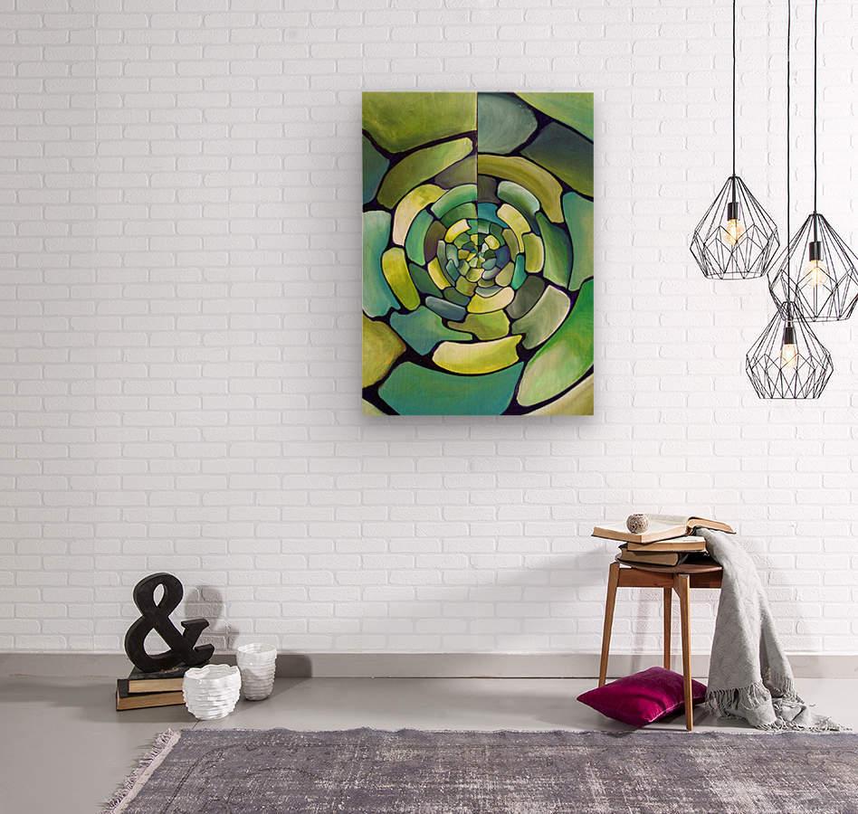 Artdeco Centered Pattern   Wood print