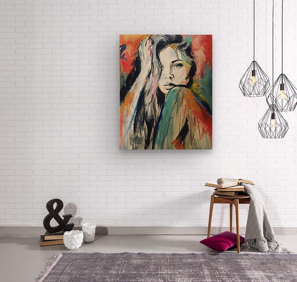 Evangelina  Wood print