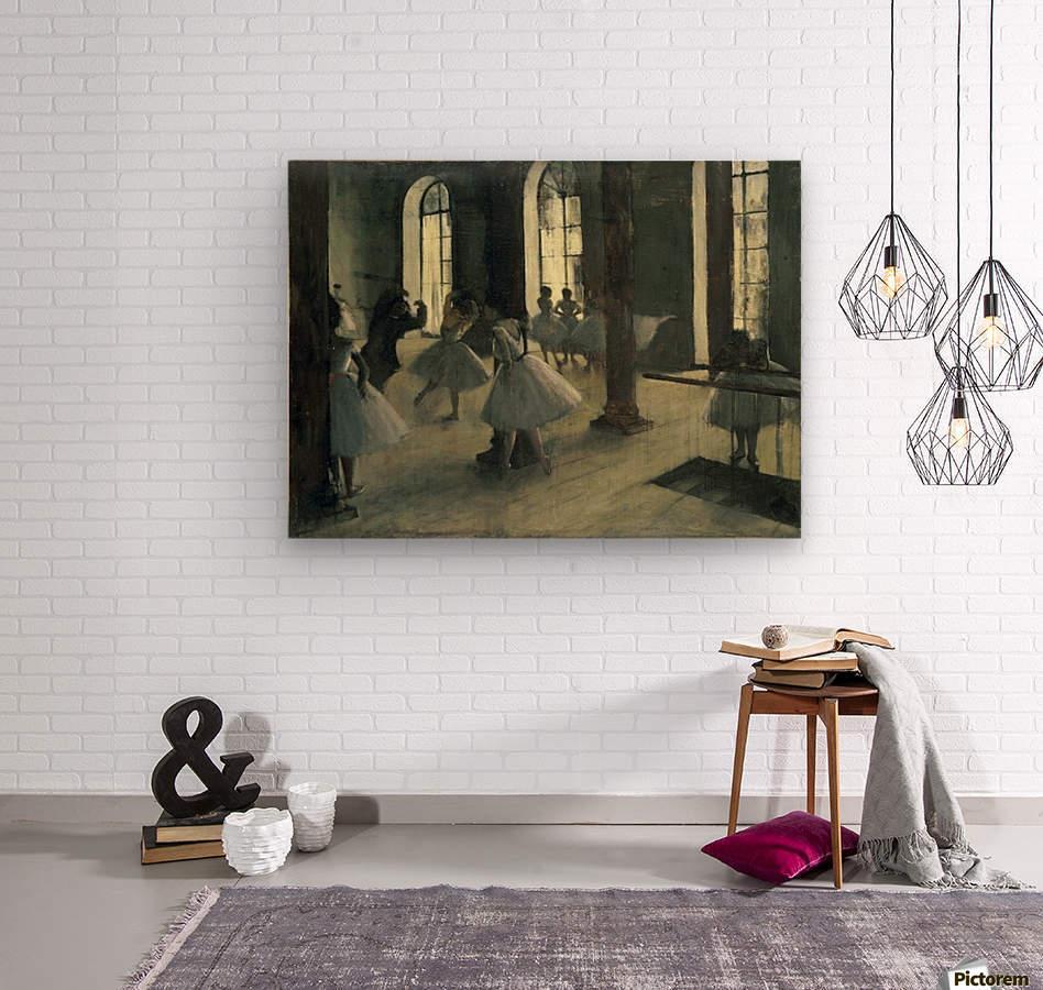 La Repetition au foyer de la danse by Degas  Wood print