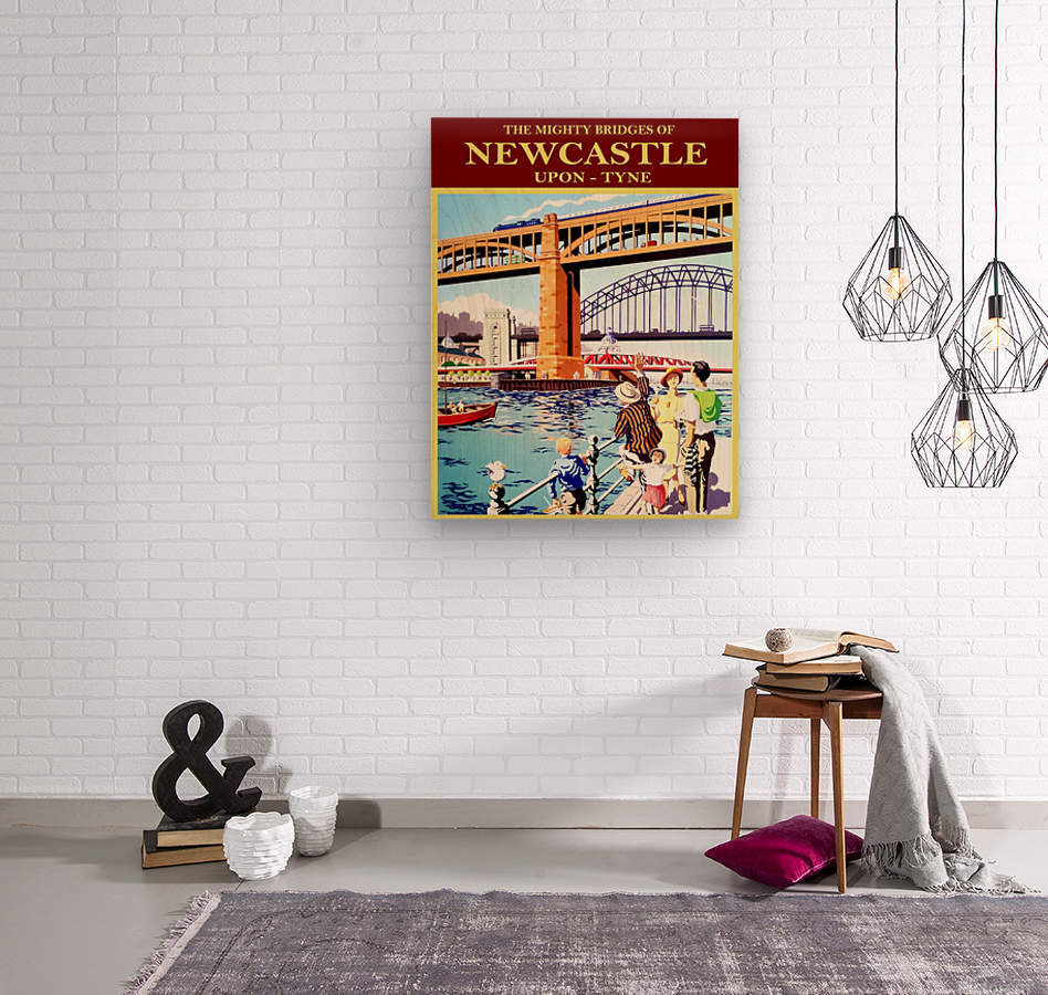 Newcastle upon Tune  Wood print