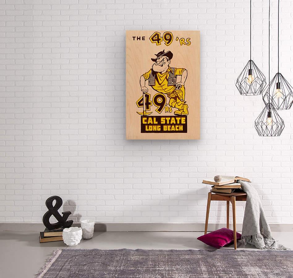 1965 cal state long beach 49ers art   Wood print