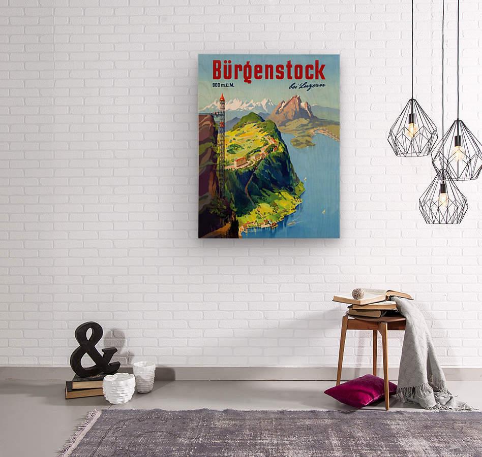Burgenstock  Wood print