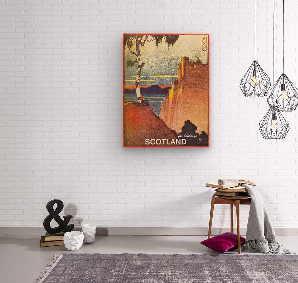 Scotland  Wood print