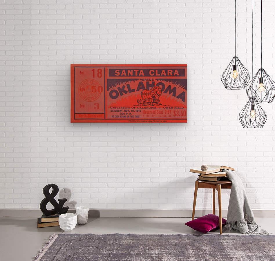 1949 oklahoma sooners bud wilkinson undefeated sooner team  Wood print