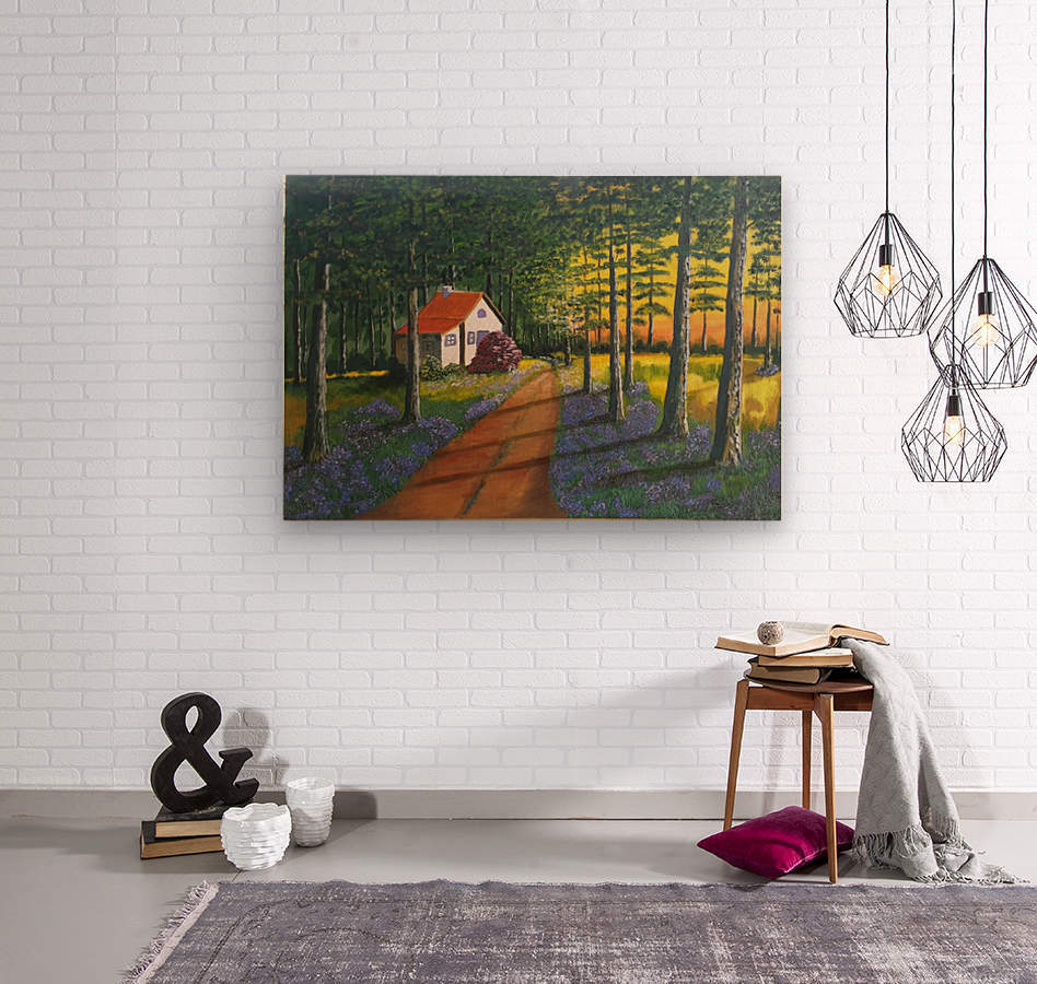 Forest retreat  Wood print