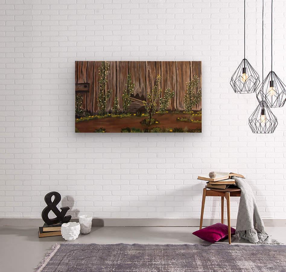 Summer blossms  Wood print