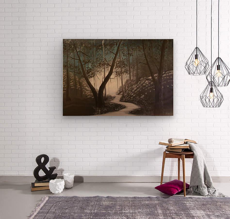 Idyll  Wood print