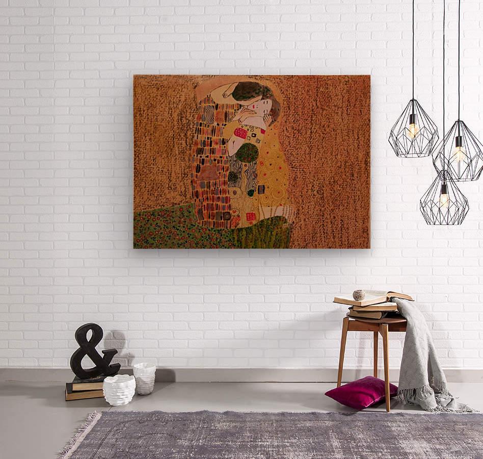 Kiss by Klimt  Wood print