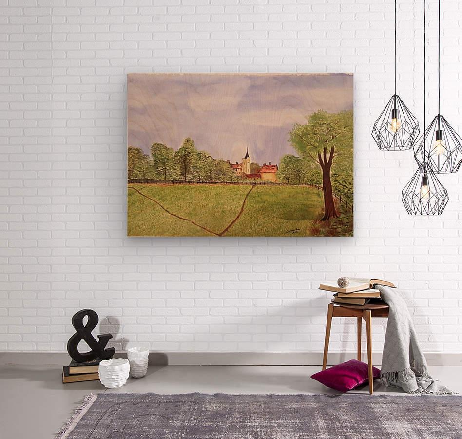Village Green  Wood print