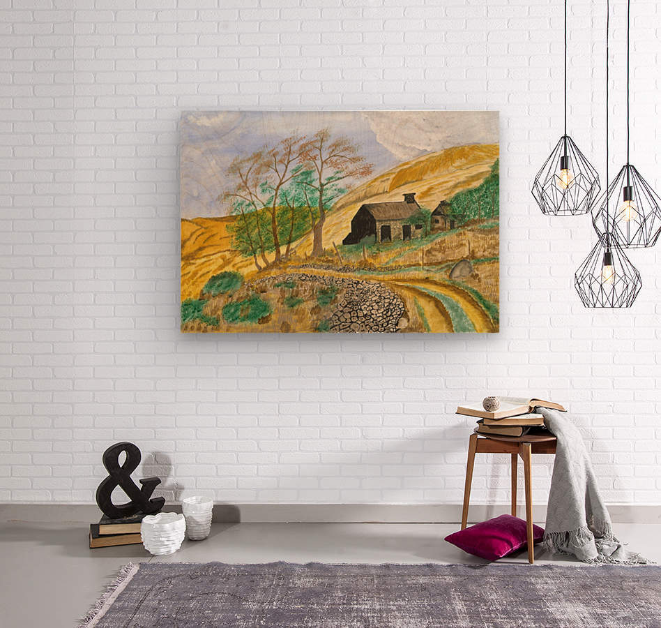 Falstone walk  Wood print