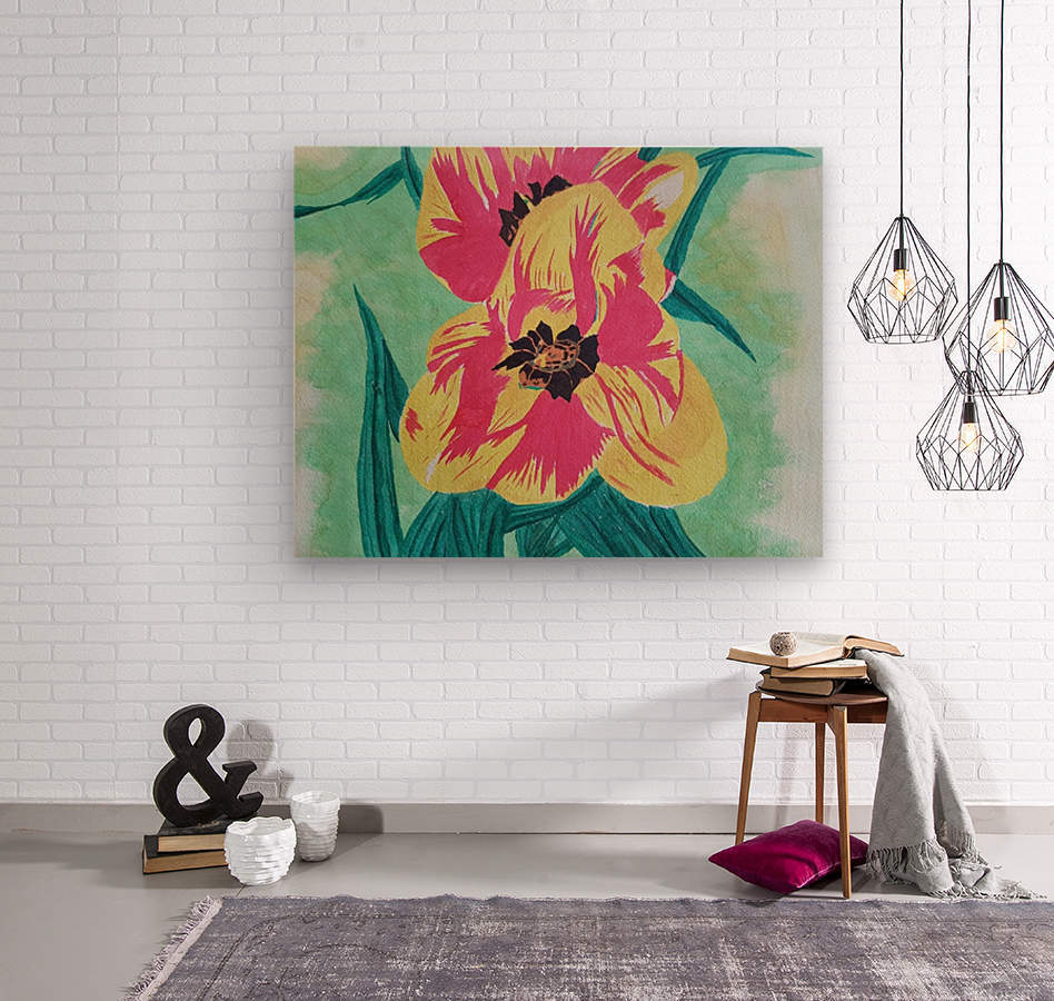 Flowers1  Wood print