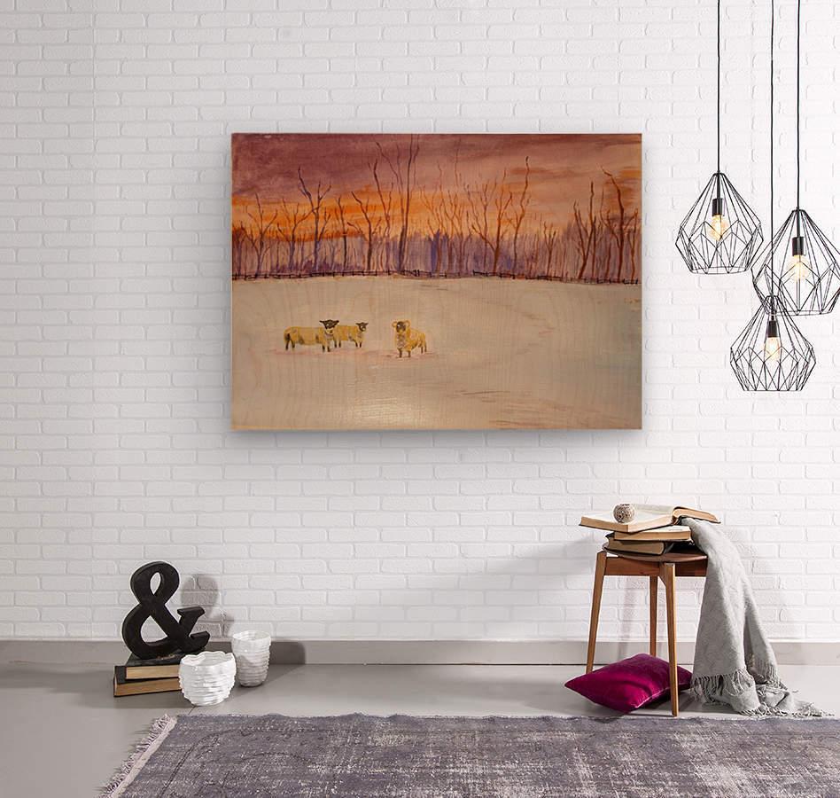 Cumbrian winter   Wood print