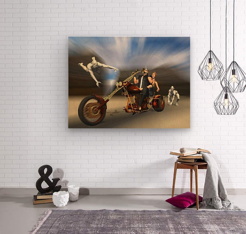 Desert Ride  Wood print