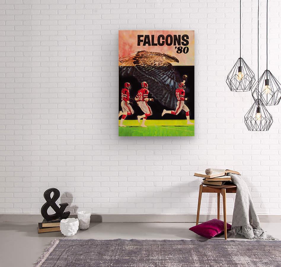 1980 retro nfl atlanta falcons poster  Wood print