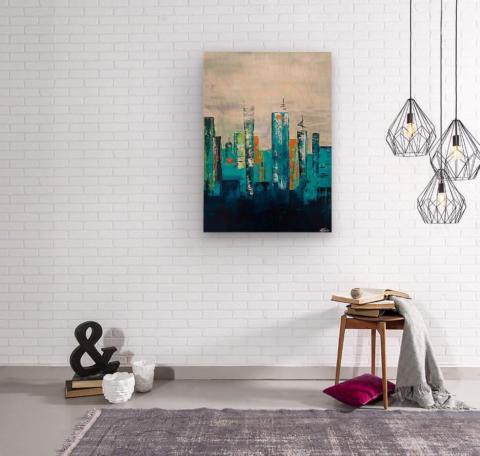 Uptown II  Wood print