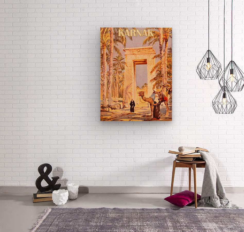 Karnak  Wood print