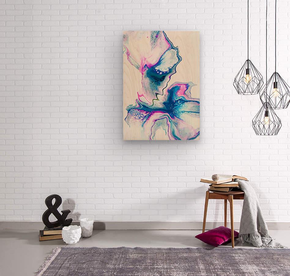 Flower Bomb  Wood print