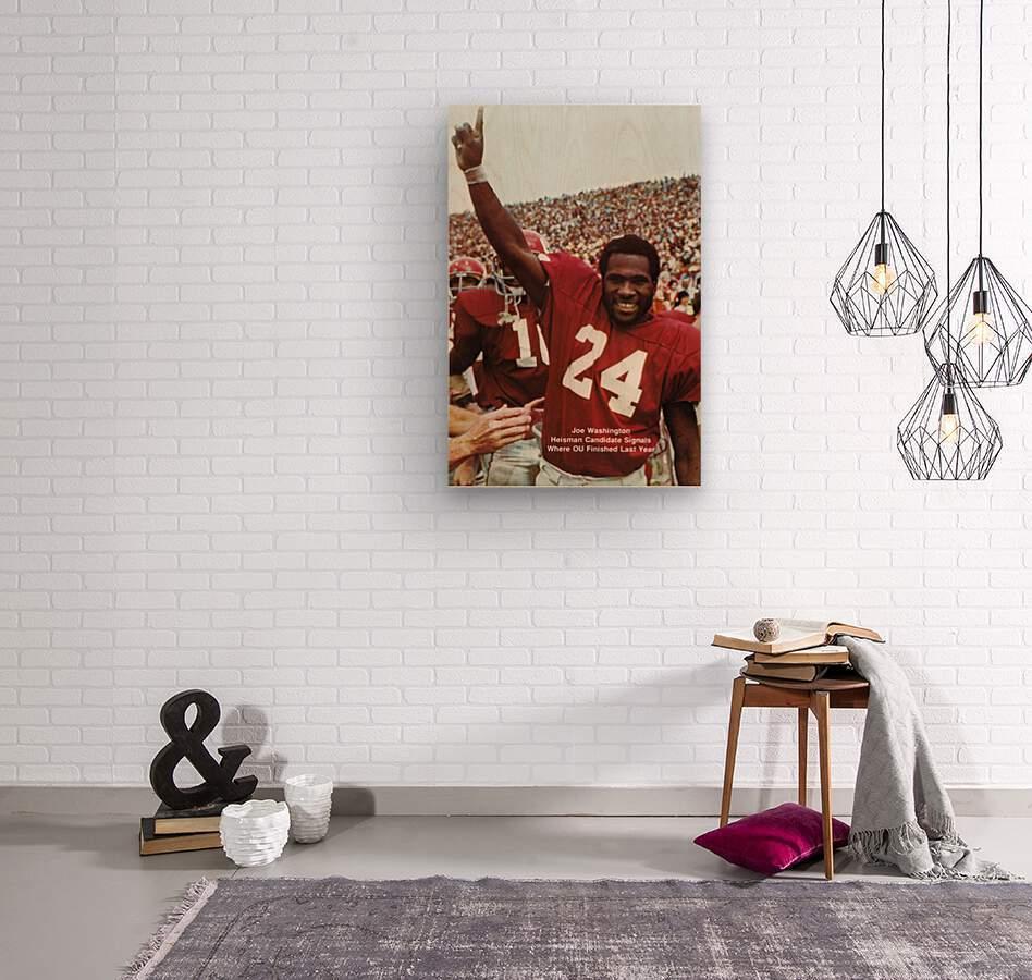 1974 oklahoma sooners football national champions poster sports wall art  Wood print
