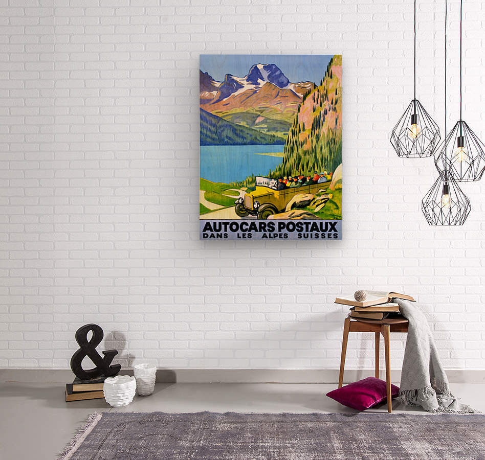 Swiss Alps by Car  Wood print