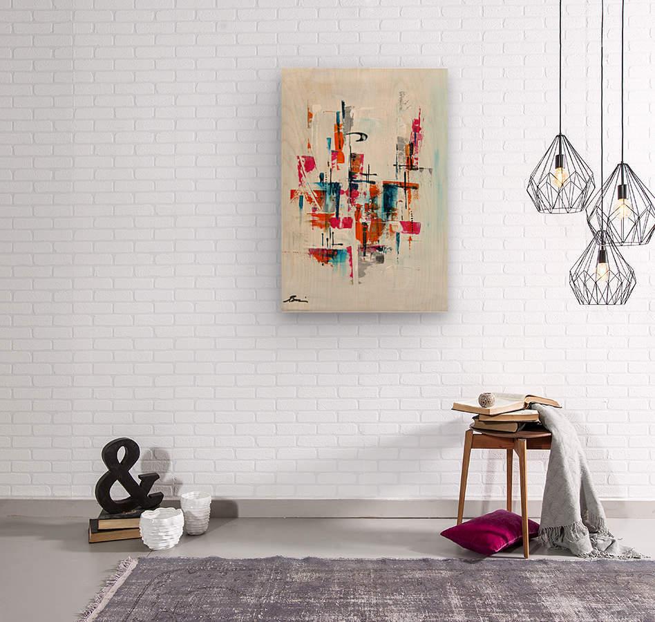MCM Urban VII  Wood print