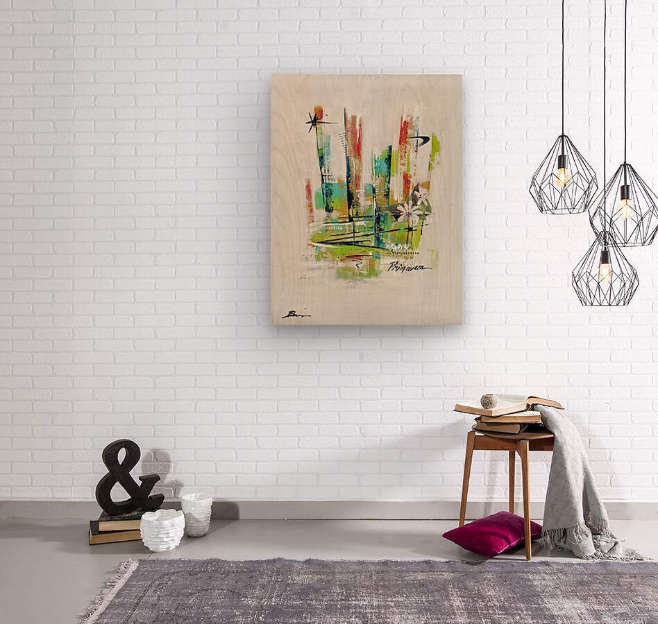 Primavera I  Wood print
