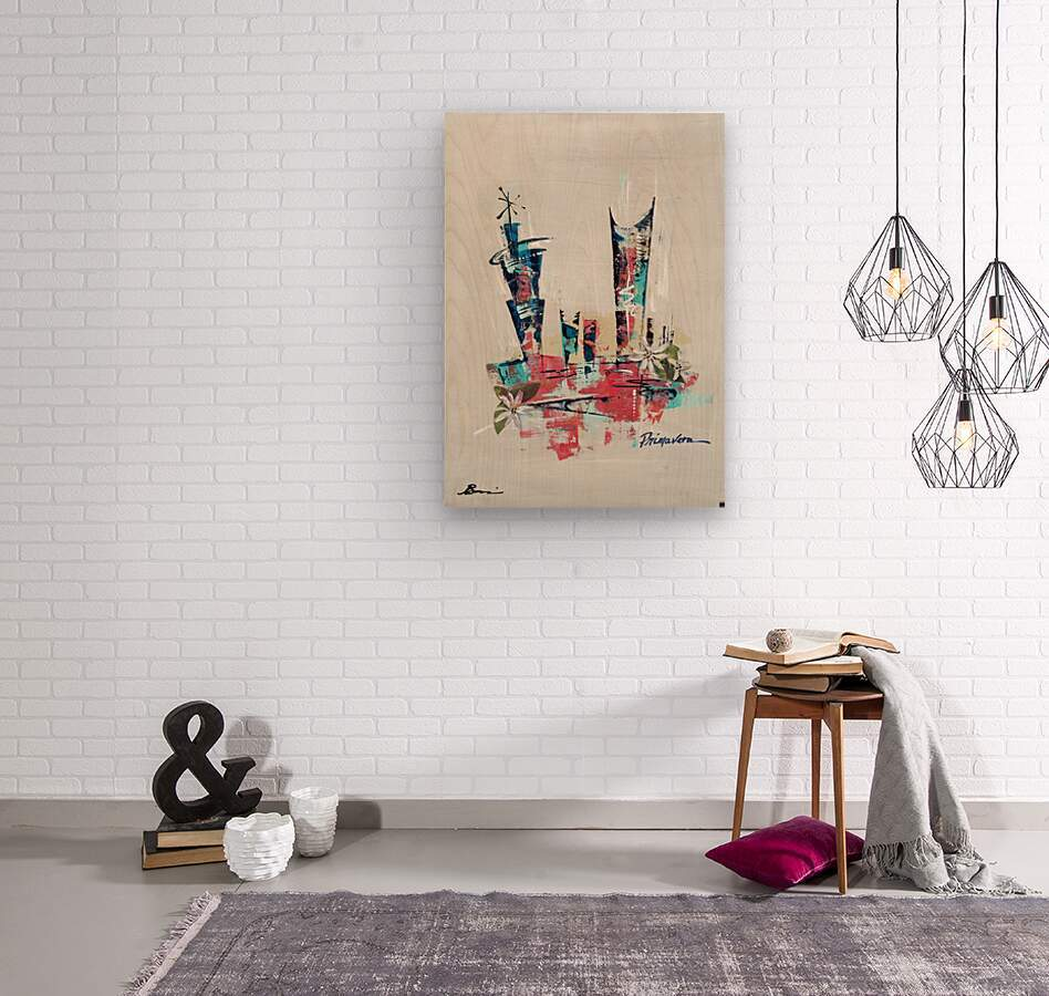 Primavera VII  Wood print
