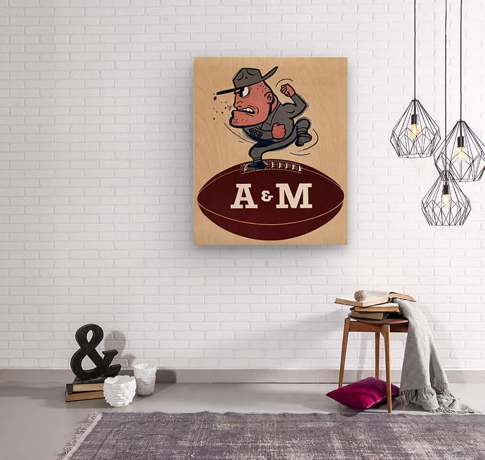1957 A&M  Wood print