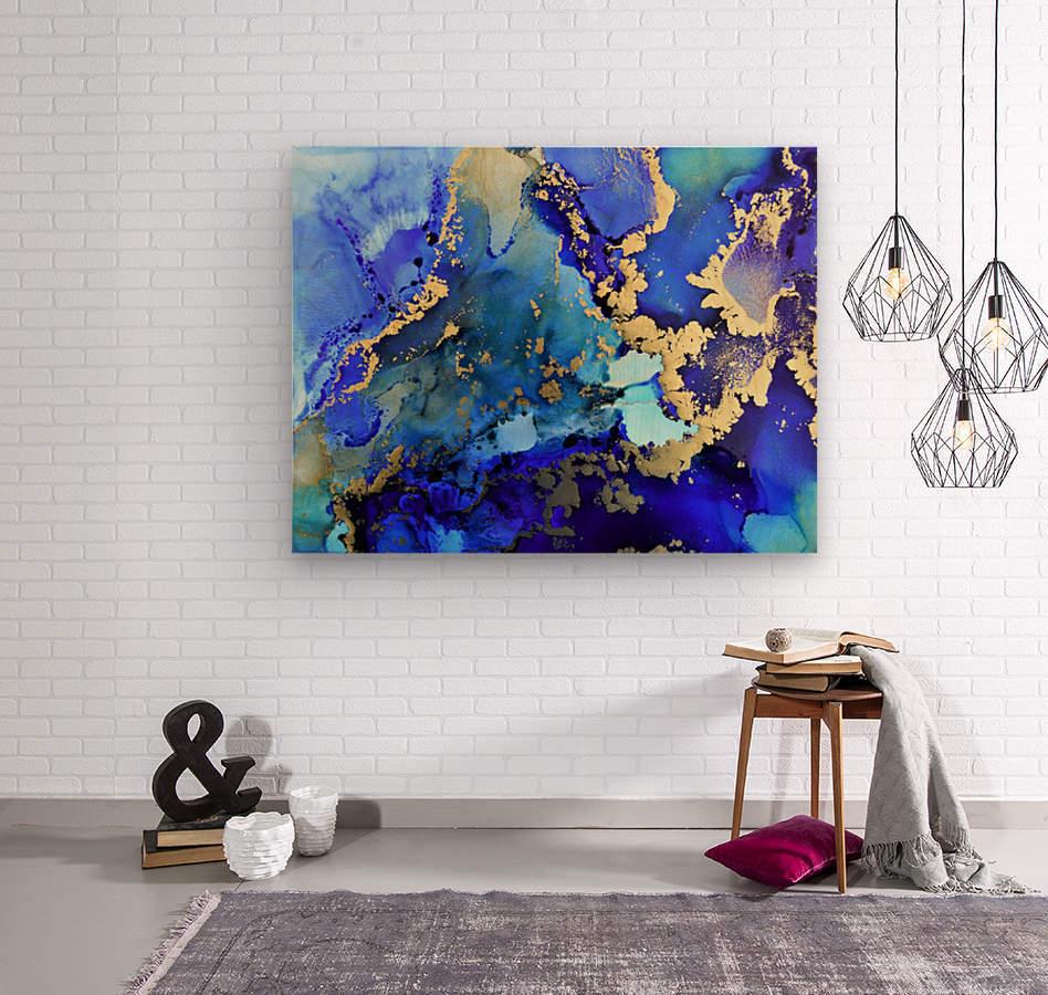 Starlight in Blue  Wood print