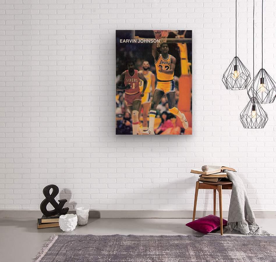 1983 Magic Johnson LA Lakers  Wood print